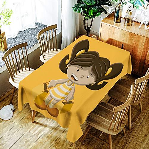 QWEASDZX Tischdecke Einfach und modern Stoff Polyester tischdecken für draußen Waschbare Antifouling-Tischdecke Geeignet für den Innen- und Außenbereich 140x140cm