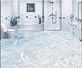 Weaeo 3D Wallpaper Custom 3D-Bodenbeläge Malen Tapete Zimmer Wandbilder 3D Marmor Stein Parkettboden Tapete 3D Fototapete-280 X 200 Cm