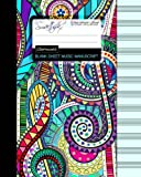 Blank Sheet Music: Music Manuscript Paper / Staff Paper / Musicians Notebook [ Book Bound (Perfect Binding) * 12 Stave * 100 pages * Large * Carnival ] (Composition Books - Music Manuscript Paper)