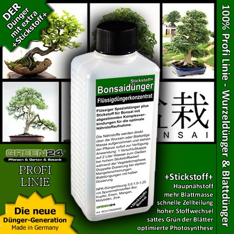 Bonsai-Dünger NPK Stickstoff+ HIGHTECH Dünger zum düngen von Bonsai Pflanzen, Premium Flüssigdünger aus der Profi…