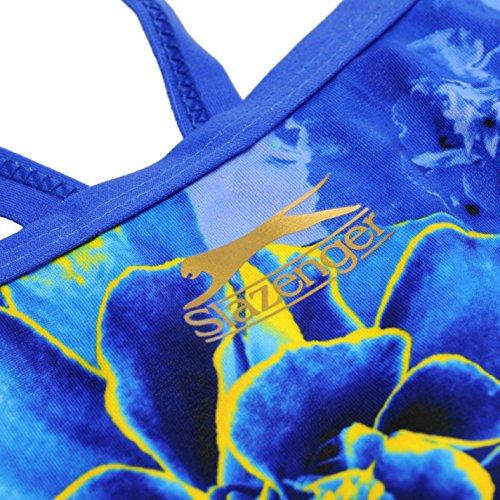 Slazenger Donna Becky Adlington Recordbreaker Costume Da Bagno Mare Piscina Blu Flower