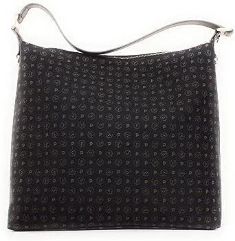 Pollini borsa a spalla con zip all esterno, aggiunta di tracolla linea Heritage 35x33x42