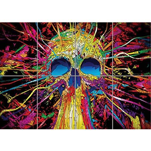 Doppelganger33LTD Psychedelic Trippy Calavera Art Giant Art Print...