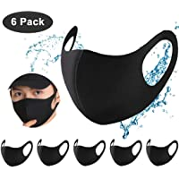 FARIL 6 pack Black Reusable Face_Mouth_Protect Washable Dust Face Covering Unisex for Motorcycle Bicycle Running Cycling and Outdoor Activities