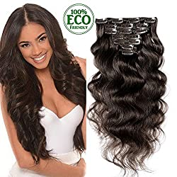 Topuhair Body Wave Clips...