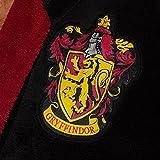Herren schwarz Harry Potter Gryffindor Crest Kapuzen Bademantel