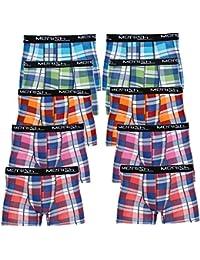 MERISH Boxer Homme Lot de 5 ou 10 Shorts rétro Boxer en Design damier en coton Modell 219