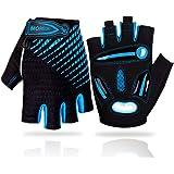 LUROON Cycling Gloves Half Finger Gel Padded Bike Gloves Anti-Slip Shock-absorbing Hand Protect Fingerless Summer Bicycle Sho