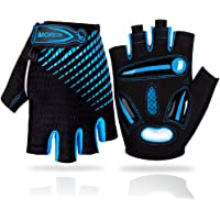 LUROON Cycling Gloves Half Finger Gel Padded Bike Gloves Anti-Slip Shock-absorbing Hand Protect Fingerless Summer…