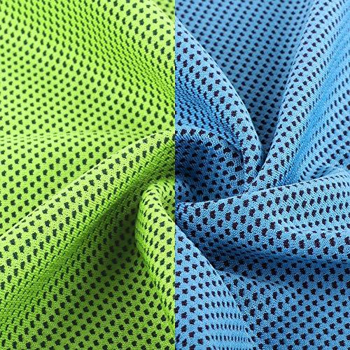 Mikrofaser-Handtuch, ROMIX Kühlhandtuch Reisehandtuch Fitness- und Sporthandtuch eiskalt, saugfähig, schnelltrocknend, streichelweich 30 x 120 cm (Karminrot)