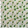 Tischdecke abwaschbar Wachstuchdecke Wachstuch Wachstuchtischdecke Kräuter Grün Beige Bio Basilikum Größe wählbar von ANRO bei Gartenmöbel von Du und Dein Garten