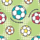 """Geschenkpapier """"Fußball"""", Rolle 1,5m x 70cm"""