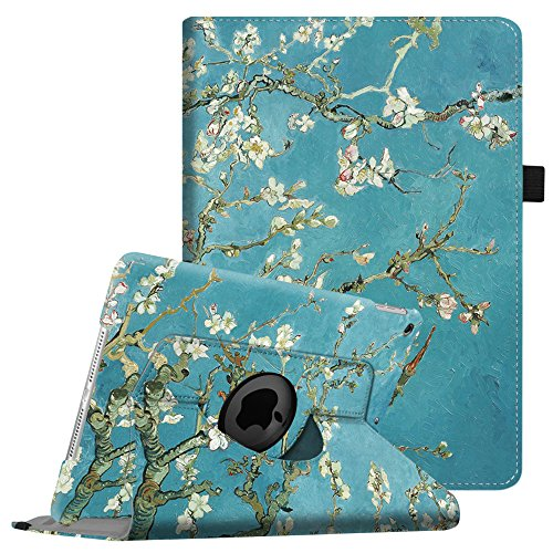 Fintie iPad mini 1 / 2 / 3 Hülle – 360 Grad Rotierend Stand Kunstleder Cover Schutzhülle Case mit Auto Schlaf / Wach Funktion und Stylus-Halterung für Apple iPad Mini 3 / iPad Mini 2 / iPad Mini, Mandelblüten