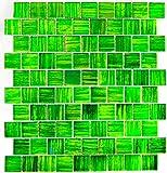Mosaikfliesen Fliesen Mosaik Küche Bad WC Wohnbereich Fliesenspiegel glänzend 8mm Neu #588