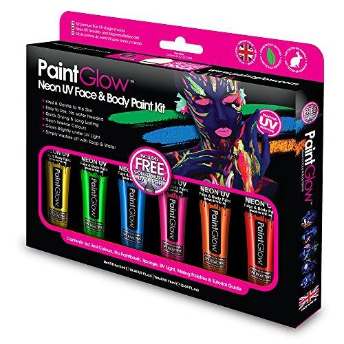 Paintglow- Neon Intense UV Face & Body Paint Boxset