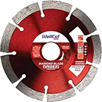 "Wellcut Segmented Diamond Cutting Disc Blade, Ultra Thin & High Precision, Fast & Smooth Cutting For Concrete, Stone, Brick, Lintels, Granite, Natural Stone Diamond Blade (5""- 125 X 22.23 Mm)"