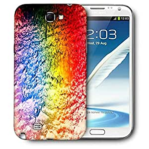 Snoogg Colorful Concrete Abstract Printed Protective Phone Back Case Cover For Samsung Galaxy Note 2 / Note II