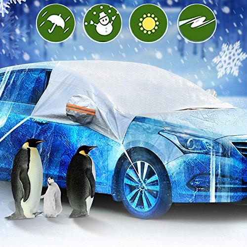 HXLONG Auto Abdeckung Scheibenschutz Frostabdeckung Frontscheibe Windschutzscheiben Winterschutz Scheibenabdeckung Winterabdeckung Eisschutz Schneeschutz Hitzeschutz