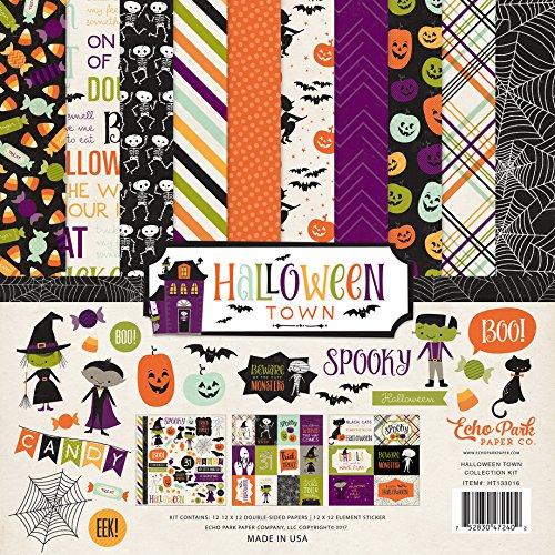 Echo Park Paper Company Halloween Town Collection Kit (Halloween 12x12 Scrapbook-papier)