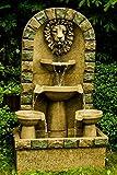 Köhko Springbrunnen Leipzig Gartenbrunnen mit Löwenkopf Brunnen für Garten und Terrasse inkl....