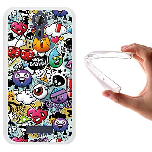 Acer Liquid Zest Plus Hülle, WoowCase Handyhülle Silikon für [ Acer Liquid Zest Plus ] Graffiti Funny Farben Handytasche Handy Cover Case Schutzhülle Flexible TPU - Transparent