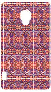 Tribal Mayan Pattern White Back Cover Case for LG Optimus L7 II P710