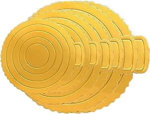 Olen Tortenunterlage Rund 20 cm 25 cm 30 cm Goldene Tortenunterlage Pappe Tortenplatte Cake Board Kuchenplatte Rund 6er Set