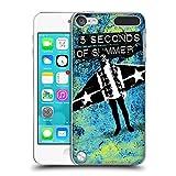 Head Case Designs Offizielle 5 Seconds of Summer Aero Blau Farbenchaos Ruckseite Hülle für iPod Touch 5th Gen/6th Gen