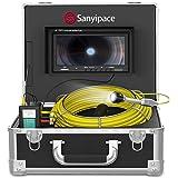 """Buiscamera 20M met 9"""" Scherm, Buisinspectiecamera DVR Endoscoop Rioolcamera met Licht Waterdichte IP68 Professionele Slangcam"""