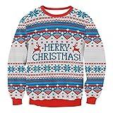 FRAUIT Frauen Männer Weihnachtsstrickjacke Urlaub Santa Novelly Sweatshirt Ugly Today Unisex Weihnachtspullover Hässliche Pulli Jumper Sweater Ugly Weihnachtspulli für Damen Weihnachtsparty