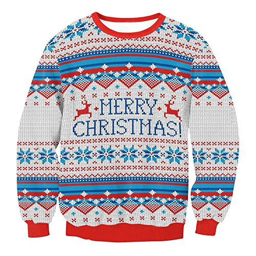 VENMO Frauen Männer Weihnachten Urlaub Santa Novelly Bluse outdoorjacke Pullover ultraleichte Strickjacken Sweatshirts Shirts Tops Streetwear Klassisch Jahre Retro Strickpullover (Gray, M)