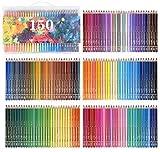 150 Couleurs Crayons de couleur aquarellable Crayons d'artiste Crayons à Dessin Aquarellables Soluble