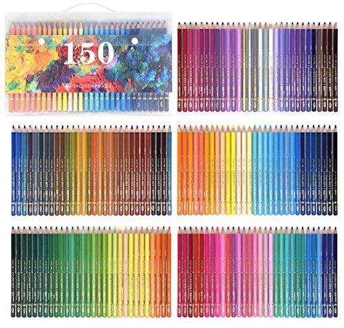 150 Farben Buntstifte Set Aquarelle Wasserlösliche Farbstifte Set Kunst Farbige Zeichnung Aquarelle...