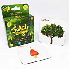 Jungle Enigma 3 Card Memory Game Tree, Fruit & Leaf