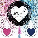 Aparty4u 2pcs kit de Ballons révélant Le Gender, 36 'Ballons de Confettis Géant...