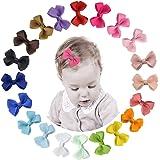 JUHONNZ Mollette per Capelli Bambina,20 Pezzi Fiocchi Fermagli Capelli Neonata Accessori per Capelli per Toddlers e Bambini F
