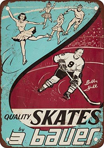 1964-bauer-patins-et-bobby-coque-aspect-vintage-reproduction-plaque-en-metal-203-x-305-cm