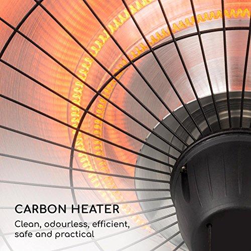 blumfeldt Camden Heat • Infrarot-Heizstrahler • Terrassenheizstrahler • 2500 W • IR ComfortHeat • IP24 • Infrarot-Wärme • Carbon-Heizelement • Easy Control • inkl. Kette und 4 x Kabelbinder • schwarz - 4