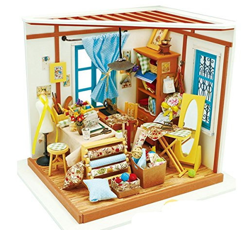 Rolife casa muñecas DIY luz Medida Miniatura casa