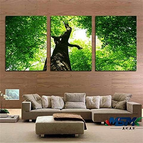 40 * 60 * 2.5cm, Green Woods Modern Living coperta Camera Hanging verniciato letto Camera da letto hotel arredato murales dipinti pittura Triple