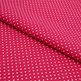 Hans-Textil-Shop Stoff Meterware Punkte 2 mm Weiß auf Pink
