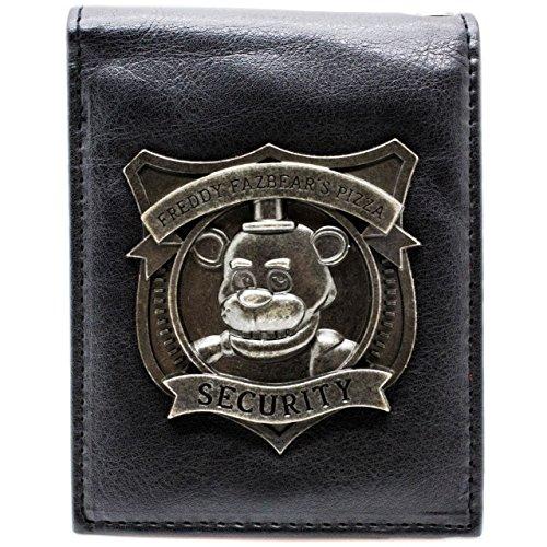 Fazbear Five Nights at Freddys Sicurezza Nero portafoglio
