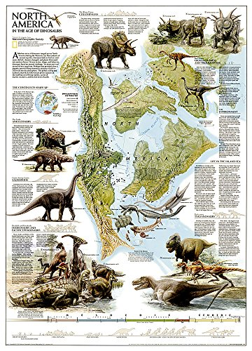 Dinosaurs of North America, tubed : Wall Maps History & Nature (Reference - History & Nature)