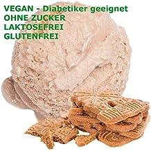Spekulatius sabor hielo crema en polvo vegan - Azúcar - LACTOSA - GLUTEN - bajo en grasa crema, leche suave servir helados en polvo para los diabéticos ...