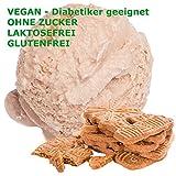 Spekulatius Geschmack Eispulver VEGAN - OHNE ZUCKER - LAKTOSEFREI - GLUTENFREI - FETTARM, auch für Diabetiker Milcheis Softeispulver Speiseeispulver Gino Gelati (Spekulatius, 1 kg)
