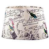 Lampenschirm Stoff Textil Leinen Shabby Chic Landhaus Lampe Schirm NEU