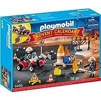 Playmobil 9486 Christmas Adventskalender Feuerwehreinsatz auf der Baustelle, 4-12 Jahre