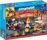Playmobil- Calendario dell'Avvento Vigili del Fuoco in Azione, dai 4 Anni, 9486