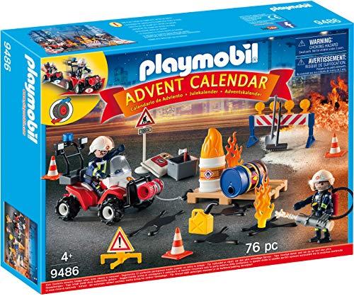Playmobil 9486 Calendario dell'Avvento Vigili del Fuoco in azione, dai 4 Anni