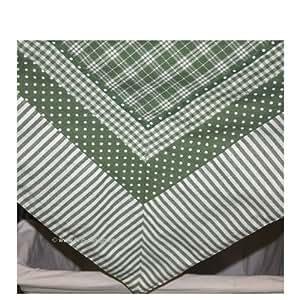 pw03gr gr n tischdecke serie patchwork clayre eef 130 x 180 cm. Black Bedroom Furniture Sets. Home Design Ideas